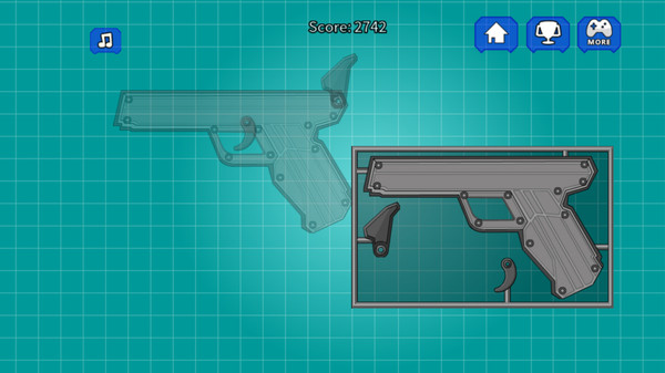 组装玩具手枪
