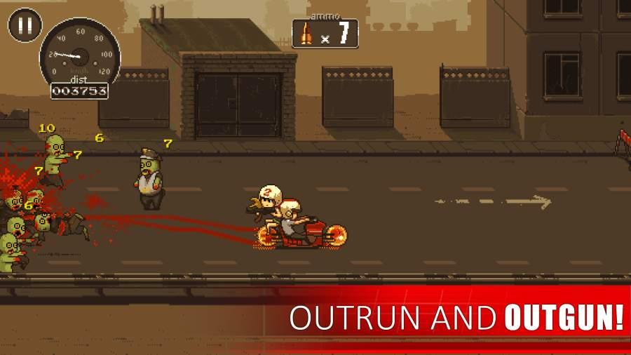 僵尸突围摩托车游戏